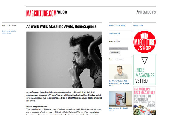 Homesapiens on Magculture